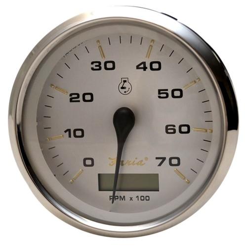 Faria Kronos 4- Tachometer w-Hourmeter - 7-000 RPM -Gas - Outboard-