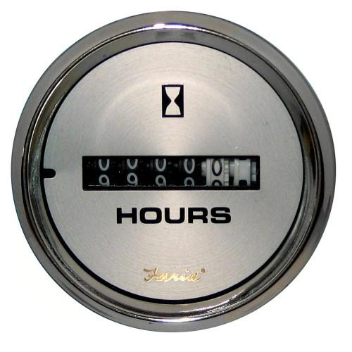 Faria Kronos 2- Hourmeter -10-000 Hrs- -12-32 VDC-