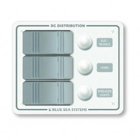 Blue Sea 8274 Water Resistant Panel - 3 Position - White - Vertical Mount