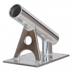 Lee-s MX Pro Series Fixed Angle Center Rigger Holder - 30 Degree - 1-5- ID - Bright Silver