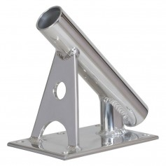 Lee-s MX Pro Series Fixed Angle Center Rigger Holder - 45 Degree - 1-5- ID - Bright Silver