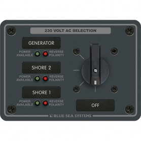 Blue Sea 8358 AC Rotary Switch Panel 30 Ampere 3 Positions - OFF- 2 Pole