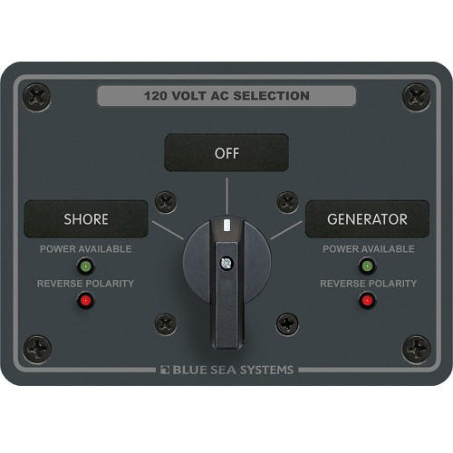 Blue Sea 8367 AC Rotary Switch Panel 30 Ampere 2 Positions - OFF- 2 Pole