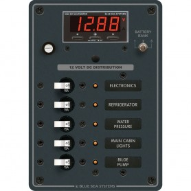 Blue Sea 8401 DC 5 Position w-Multi-Function Meter