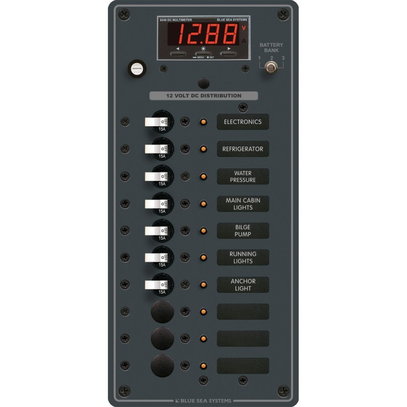 Blue Sea 8402 DC 10 Position w-Multi-Function Meter