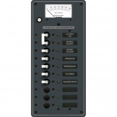 Blue Sea 8488 Breaker Panel - AC Main - 8 Positions - White