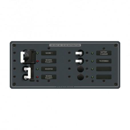 Blue Sea 8499 Breaker Panel - AC 2 Sources - 4 Positions - White