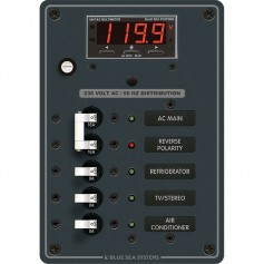 Blue Sea 8505 AC Main - Branch A-Series Toggle Circuit Breaker Panel -230V- - Main - 3 Position