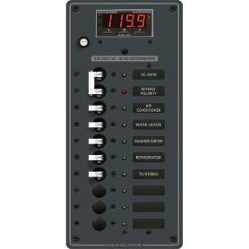 Blue Sea 8506 Breaker Panel - AC Main - 8 Positios -European- - White