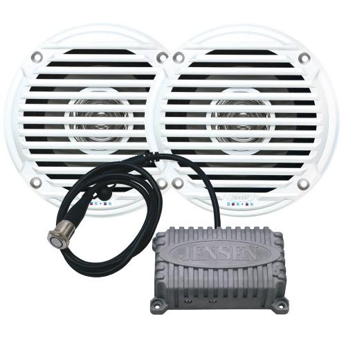 JENSEN CPM50 Bluetooth Amplifier Package w-JAHD240BT 80W- 2-Channel Bluetooth Amplifier - MS5006 5- Speakers
