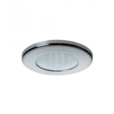 Quick Ted CT Downlight LED - 2W- IP40- Spring Mounted w-Touch Switch - Round Stainless Bezel- Round Warm White Light