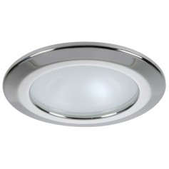 Quick Kor XP Downlight LED - 6W- IP66- Screw Mounted - Round Stainless Bezel- Round Warm White Light