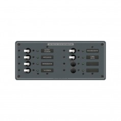 Blue Sea 8511 AC 8 Position 230v -European- Breaker Panel -White Switches