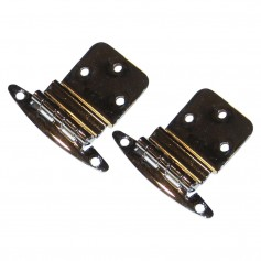 Perko Chrome Plated Brass 3-8- Inset Hinges