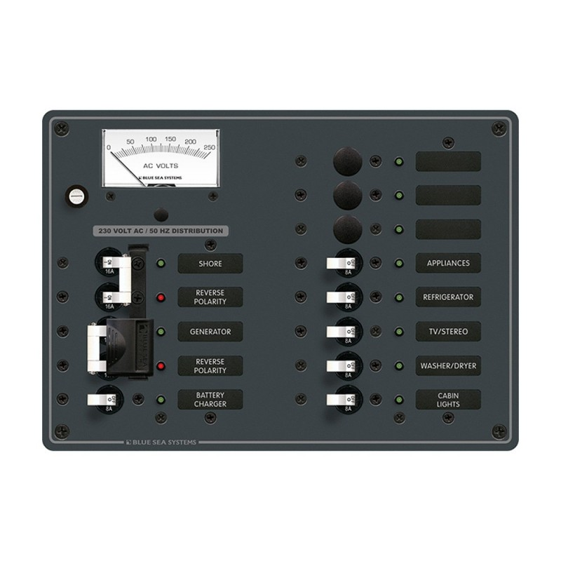 Blue Sea 8562 AC Toggle Source Selector -230V- - 2 Sources - 9 Positions