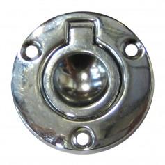 Perko Round Flush Ring Pull - 2- - Chrome Plated Zinc