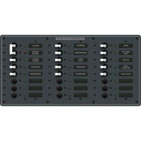 Blue Sea 8565 Breaker Panel - AC Main - 22 Positions -European- - White