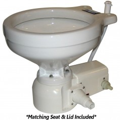 Raritan Sea Era Marine Size Toilet - Press - Fresh Water - 0 - 90 Discharge - Smart Switch - 12V - White