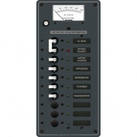 Blue Sea 8588 Breaker Panel - AC Main - 8 Positions -European- - White