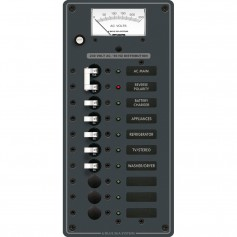 Blue Sea 8588 Breaker Panel - AC Main - 8 Positions -European- - White