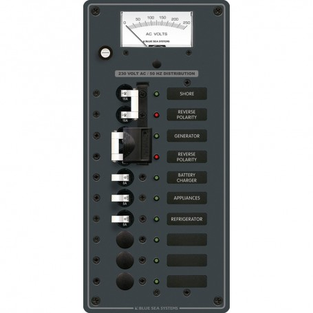 Blue Sea 8589 AC Toggle Source Selector -230V- - 2 Sources - 6 Positions