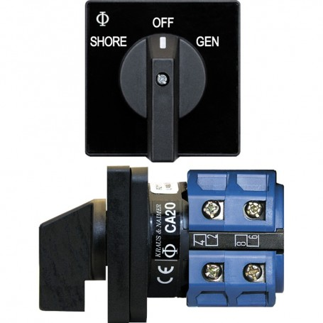 Blue Sea 9009 Switch- AC 120VAC 32A OFF -2 Position