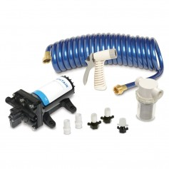 Shurflo by Pentair PRO WASHDOWN KIT II Ultimate - 12 VDC - 5-0 GPM - Includes Pump- Fittings- Nozzle- Strainer- 25 Hose