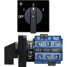 Blue Sea 9010 Switch- AV 120VAC 32A OFF -3 Positions