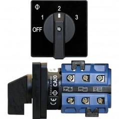 Blue Sea 9010 Switch- AV 120VAC 32A OFF -3 Positions