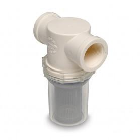 SHURFLO 1-1-4- Raw Water Strainer w-Bracket - Fittings - 20 Mesh