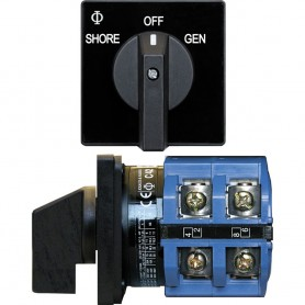 Blue Sea 9011 Switch- AV 120VAC 65A OFF -2 Positions