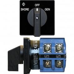 Blue Sea 9011 Switch- AV 120VAC 65A OFF -2 Positions