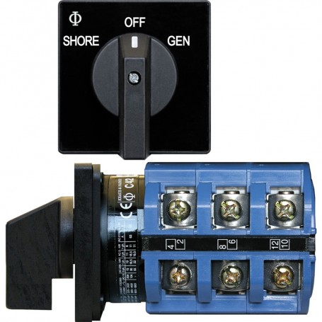 Blue Sea 9019 Switch- AC 240VAC 63A OFF -2 Positions
