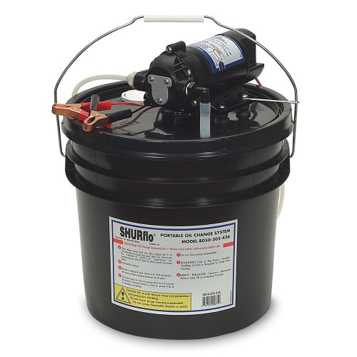 SHURFLO Oil Change Pump w-3-5 Gallon Bucket - 12 VDC- 1-5 GPM
