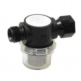 Shurflo by Pentair Swivel Nut Strainer - 1-2- Pipe Inlet - Clear Bowl