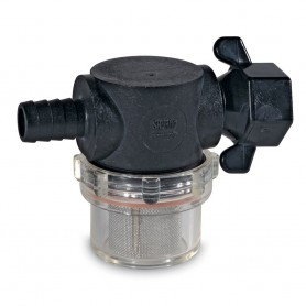 Shurflo by Pentair Swivel Nut Strainer - 1-2- Barb Inlet - Clear Bowl