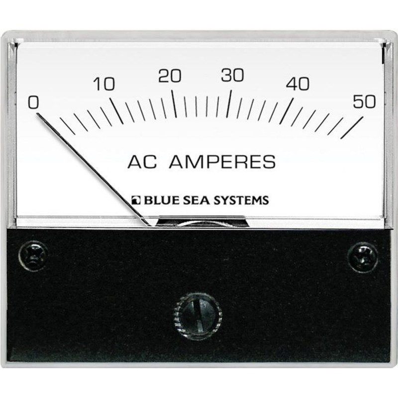 Blue Sea 9630 AC Analog Ammeter 0-50 Amperes AC
