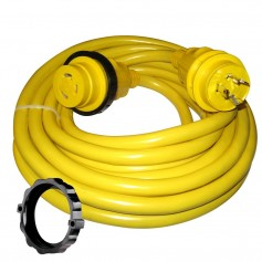 Marinco 30 Amp Power Cord Plus Cordset - 35- - Yellow