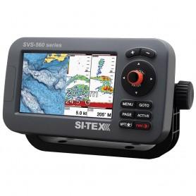 SI-TEX SVS-560CF Chartplotter - 5- Color Screen w-Internal GPS - Navionics- Flexible Coverage
