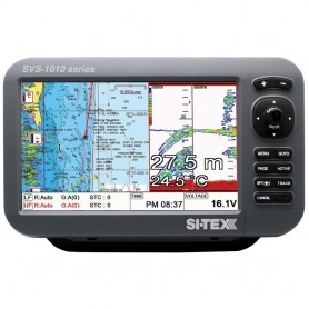 SI-TEX SVS-1010CF 10- Chartplotter-Sounder Combo w-Internal GPS Antenna - Navionics- Card