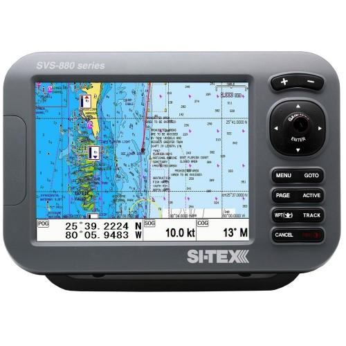 SI-TEX SVS-880C 8- Chartplotter w-Internal GPS Antenna - Navionics- Card