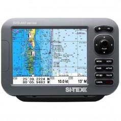 SI-TEX SVS-880CE 8- Chartplotter w-External GPS Antenna - Navionics- Card