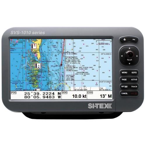 SI-TEX SVS-1010C 10- Chartplotter w-Internal GPS Antenna - Navionics- Card