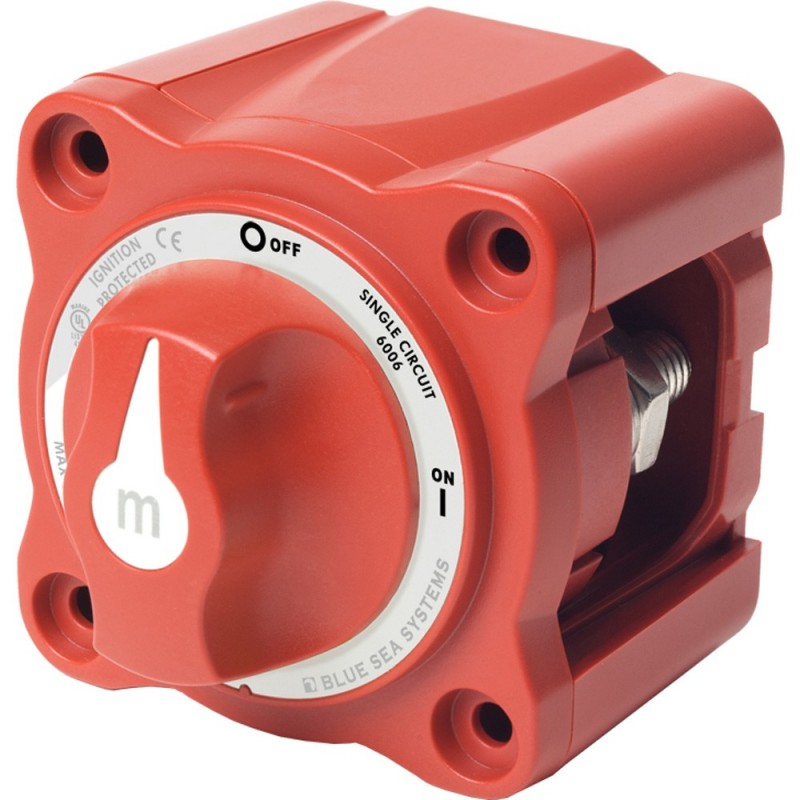 Blue Sea 6006 m-Series -Mini- Battery Switch Single Circuit ON-OFF Red