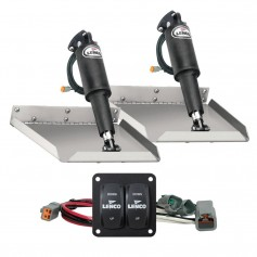Lenco 12- x 12- Edge Mount Trim Tab Kit w-Double Rocker Switch Kit