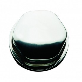 Schmitt Faux Center Nut - Chrome-Plastic - 1-2- 3-4- Base - For Cast Steering Wheels