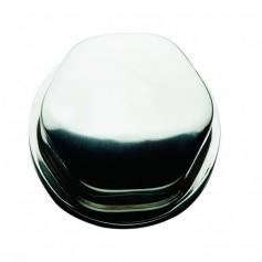 Schmitt Ongaro Faux Center Nut - Chrome-Plastic - 1-2- 3-4- Base - For Cast Steering Wheels