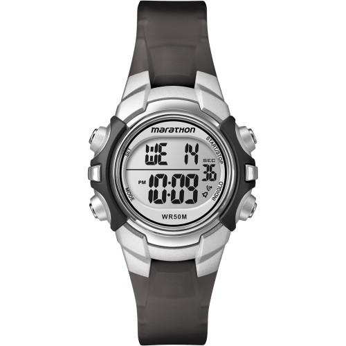 Timex Marathon Digital Mid-Size Watch - Black-Silver