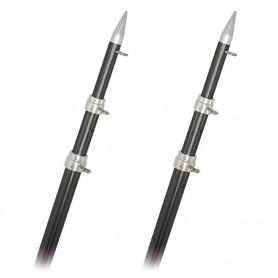 Rupp Top Gun Outrigger Poles - Telescopic - Carbon Fiber - 18-