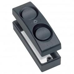 Marinco Contour 1100 Series Double Interior Switch - On-Off - Black